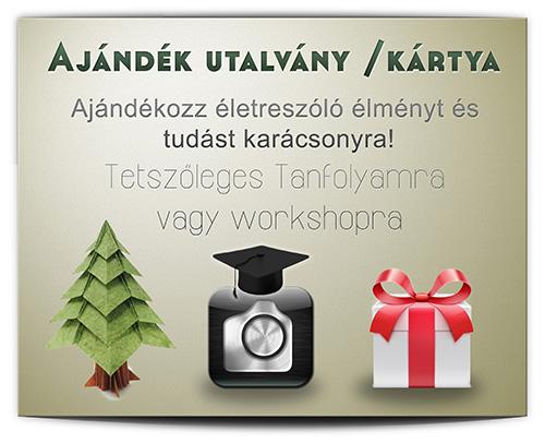 fotó oktatás ajándék kártya