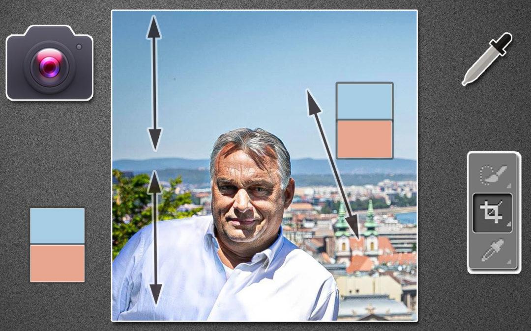 Orbán Viktor profilképe, fotográfiai elemzés